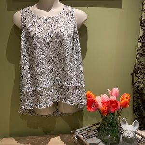 Pretty spring lace blouse.